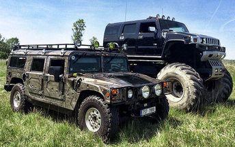 30 minut řízení Hummeru H1 nebo Monster trucku na off-road dráze v Milovicích
