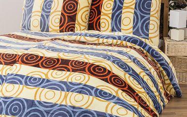 Povlečení Mikroplyš Kruhy, 140 x 200 cm, 70 x 90 cm