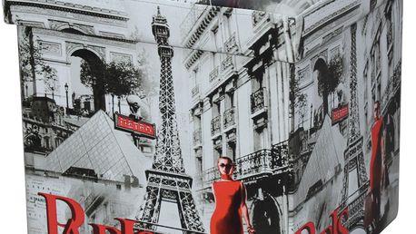 Skládací sedací box s potiskem Paris,