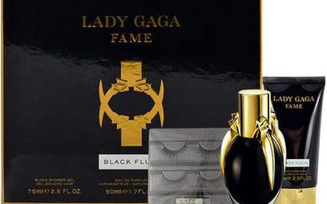 Lady Gaga Lady Gaga Fame EDP dárková sada W - Edp 50ml + 75ml sprchový gel + umělé oční řasy