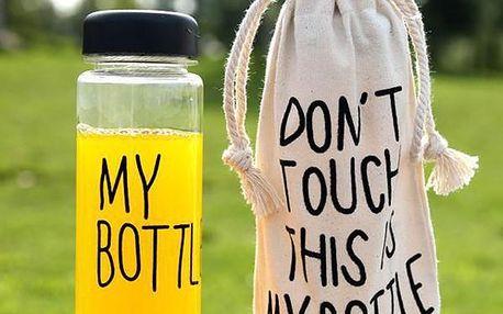 Láhev s nápisem My Bottle s taštičkou