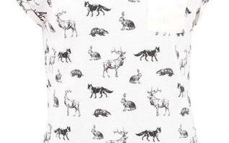 Krémové dámské triko s potiskem Bellfield KIRS