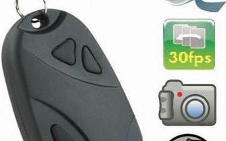Špionská kamera ve tvaru klíčenky. Stačí ji připnout na Váš svazek klíčů.