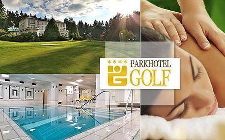 Luxusní lázeňské pobyty nabité procedurami pro dva na 6 dní v Parkhotelu Golf****