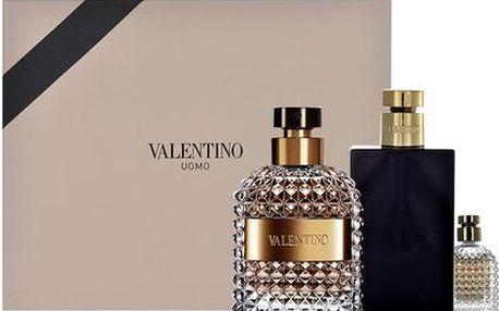 Valentino Valentino Uomo EDT dárková sada M - Edt 100ml + 100ml balsám po holení + 4ml edt
