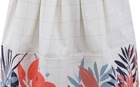 Krémová sukně s květovaným vzorem Skunkfunk Ysolde