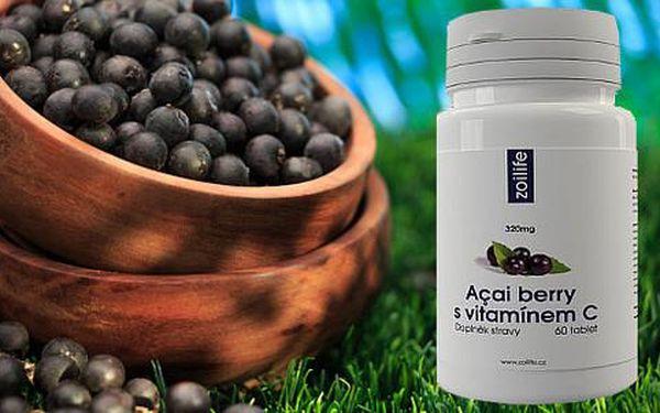 Nejúčinnější antioxidant na světě! 60 tablet Açai Berry s vitaminem C s doručením ZDARMA