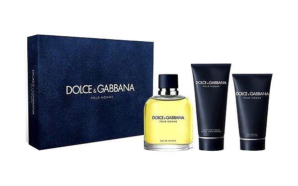 Dolce & Gabbana Pour Homme EDT dárková sada M - Edt 125ml + 100ml balsám po holení + 50ml sprchový gel