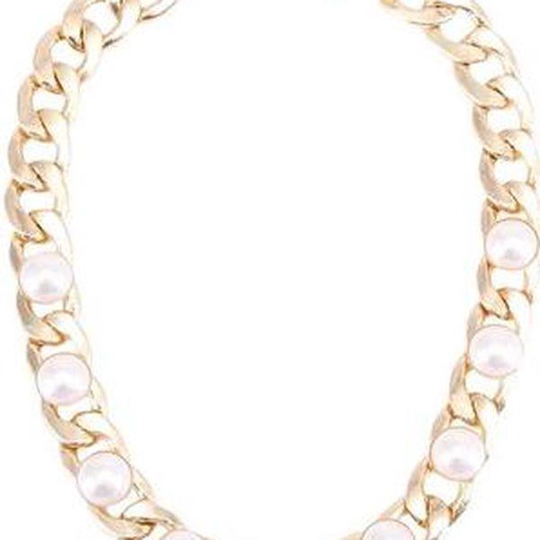 Zlatý náhrdelník s perlami Pieces Caula