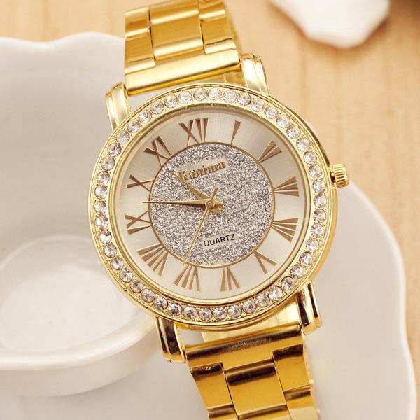 Elegantní dámské hodinky Kanima ve zlaté barvě