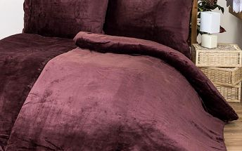 Povlečení Mikroplyš hnědá, 140 x 200 cm, 70 x 90 cm