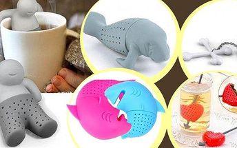 1. Mr. Tea, Král čaje - originální čajové sítko- 5 druhů. Vychutnejte si svůj šálek čaje smilým panáčkem, kapustňákem, labutí, lebkou či srdíčkem, který Vám poslouží i jako čajové sítko pro sypané čaje. Drobnost, která potěší i vaše blízké