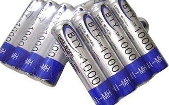 Nabíjecí tužkové AAA baterie BTY 1000mAh - 4ks