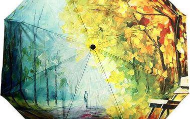 Deštník s motivem olejomalby podzimu