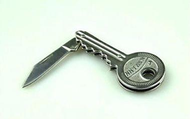 Mini skládací kapesní nožík ve tvaru klíče