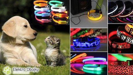 Svítící nebo nabíjecí LED obojky pro Vaše čtyřnohé miláčky. Na výběr mnoho druhů barev i velikostí! Obojky jsou vyrobeny z nezávadného materiálu, který bude Vašemu pejskovi příjemný. Ze zkušeností vyplývá, že psům a kočkám svítící ani blikající obojek nev