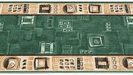 Spoltex Kobercový běhoun Zara, zelená, 80 x 100 cm
