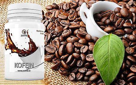 Životabudič v podobě kofeinových tablet. Na výběr 1 nebo 3 balení s doručením zdarma