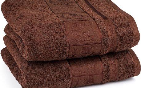 4Home ručník Bamboo Exclusive hnědá, sada 2 ks