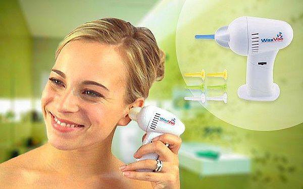 WaxVac: přístroj na čištění uší. Šetrný a pohodlný, pro celou rodinu!