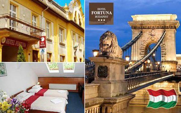 Hotel Fortuna Budapest *** se snídaní nedaleko centra