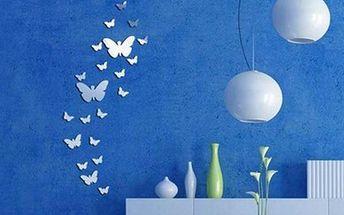 Zrcadlová dekorace v podobě motýlků