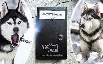 Antištěkač - přístroj, který odnaučí psa bezbolestnou metodou štěkat! Napájení na 9V baterii, poštovné v ceně!