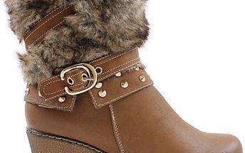 Zimní boty na klínu M51861C 39