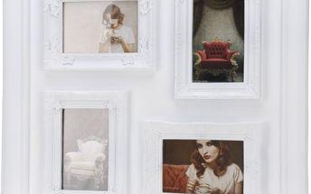 Fotorámeček na 4 fotografie bílá,