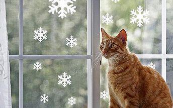 Samolepky v podobě sněhových vloček - 30 ks