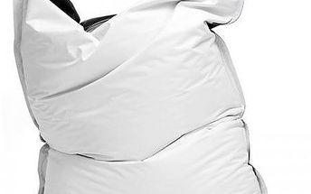 Sedací pytel Omni Bag Duo s popruhy White-Black 181 x 141 cm