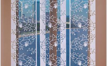 Forbyt Japonská stěna Marieta levá bílá, 50 x 240 cm