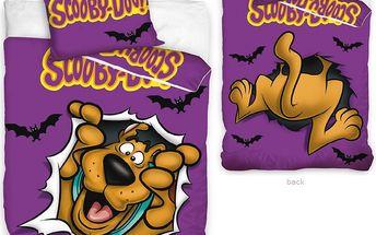 Tip Trade Dětské povlečení Scooby Doo fialová, 140 x 200 cm, 70 x 80 cm