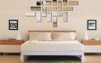Zrcadlová samolepka na zeď - dělený obraz