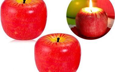 Parafínové svíčky v podobě jablek