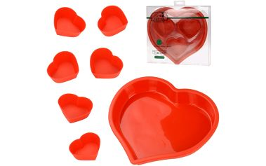 Silikonová forma srdce