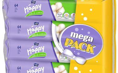 Bella Happy Čistící ubrousky silk cotton 4x56ks