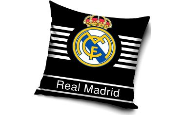 Tip Trade Polštářek Real Madrid Black, 40 x 40 cm,