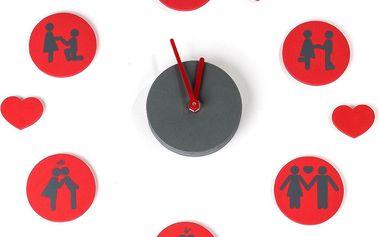 Samolepicí hodiny 3D Love signs