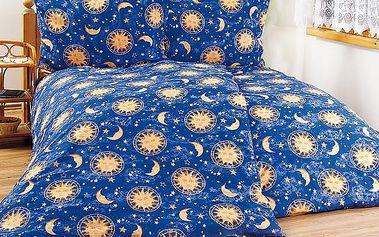 4Home bavlněné povlečení Noční obloha, 240 x 220 cm, 2 ks 70 x 90 cm