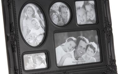 Fotorámeček na 5 fotografií černá,