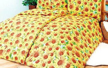 4Home bavlněné povlečení Slunečnice, 240 x 220 cm, 2 ks 70 x 90 cm