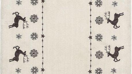 Forbyt Vánoční prostírání sobi béžová, 30 x 45 cm