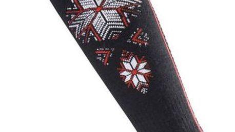 Lyžařské ponožky Lasting SWN-903 černá-červená