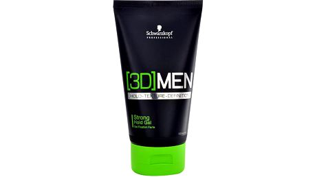 Schwarzkopf 3DMEN Strong Hold Gel 150ml Gel na vlasy M