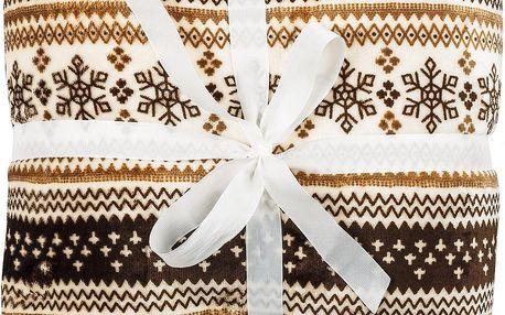 Jahu Beránková deka hnědá, 150 x 200 cm
