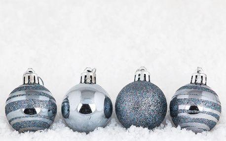 Vánoční koule 15 ks tmavě modrá, HTH, pr. 4 cm