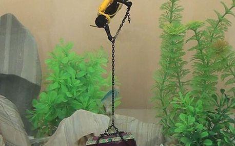 Potápěč s pokladem - dekorace do akvária