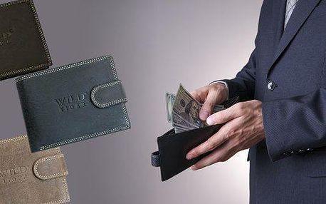 Pánské originální kožené peněženky Wild, jsou proslulé svou kvalitou a originálním vzhledem, tyto kvalitní kožené peněženky jsou vyráběné z té nejkvalitnější hovězí kůže. Značka WILD TIGER a malé R jsou známky originality!