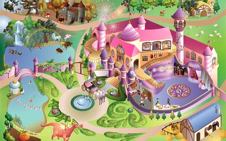 House of Kids Hrací koberec Zámek 100x150 cm